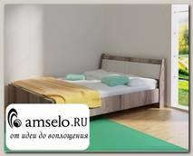 """Кровать 1200 """"Оливия"""" (Анкор темный/Анкор белый) D/Vn"""