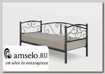 """Кровать 900 salsa """"Ларго""""(Металл Черная шагрень)-MS/Слс1"""
