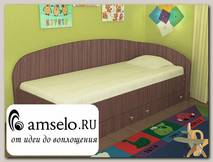 """Кровать с ящиками simple """"Кьюза"""" (Ясень шимо темный) VITA/СФ2"""