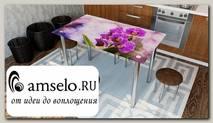 """Стол с фотопечатью 1,2 (flowers 7) """"Амели"""""""
