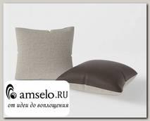 Подушка декор. (комплект 2шт.) 42x42 Torta (Рогожка Alba Cream (AT)/Экокожа Marvel Cocoa (AT))