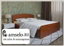 """Кровать 1400 adel """"Лаворо"""" (Орех миланский)"""
