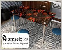 """Стол с фотопечатью 1,2 (_abstraction 8) """"Амели"""""""