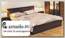 """Кровать 1400 """"Mexico"""" (МДФ) (Венге/Кожзам. Крок коричневый)"""