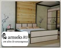 """Кровать 1400 с ящиками """"Акура"""" (Венге/Лоредо)"""
