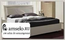 """Кровать 1800 с подъемн. мех-м """"Фабио"""" (МДФ) (Белый матовый/Экокожа белая) MrTr"""