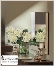 """Зеркало навесное 0,7 """"Вивьен"""" (Венге/Винилкожа Топлёное молоко)"""