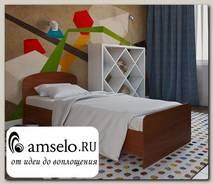"""Кровать 800 adel """"Лаворо"""" (Орех миланский)"""