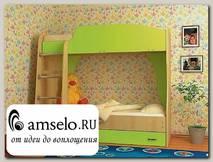 """Кровать двухъярусная с ящиком""""Кьюза"""" (Дуб/Лайм)"""