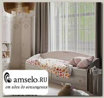 """Кровать с ящ. """"Ариэль""""(Лиственница Сибиу с рис.)/TryT-280.12.01"""