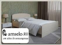 """Кровать 1400 adel """"Лаворо"""" (Белёный дуб)"""