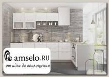 """Кухня угловая правая 1,8х3,1 decorazione """"Лакрима"""" (МДФ глянец) (Белый)"""