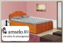 """Кровать с ящиками 1200 """"Наоми"""" (Вишня оксфорд)"""