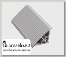 "Плинтус рифленый 3050мм для фартука ""Primavera"" (Металл Серебристый)-Ald"
