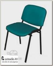 """Стул """"Кевин"""" (Ткань зелёная/Металл чёрный) А-Прс3И3"""