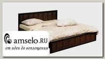 """Кровать 1600 """"Mexico"""" (МДФ) (Венге/Кожзам. Крок коричневый)"""