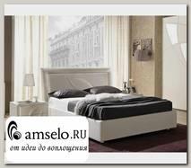 """Кровать 1600 с подъемн. мех-м """"Фабио"""" (МДФ) (Белый матовый/Экокожа белая) MrTr"""