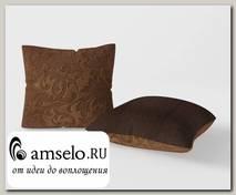 Подушка декор. (комплект 2шт.) 42x42 Torta (Велюр Astrum Brown (AT)/Велюр Shaggy Chocolate (AT))