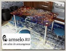 """Стол с фотопечатью 1,2 (_abstraction 5) """"Амели"""""""