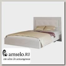 """Кровать 1200 """"Argento""""(МДФ)(Белый глянец /Экокожа Белая)"""