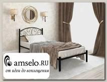 """Кровать 900 rumba """"Ларго""""(Металл Черная шагрень)-MS/Рм"""