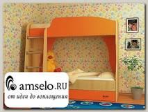 """Кровать двухъярусная с ящиком""""Кьюза"""" (Дуб/Оранжевый)"""