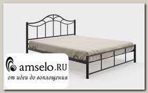 """Кровать 1600 с ортопед. осн. plus """"Ларго""""(Металл Черная шагрень)-MS/М3Пл"""