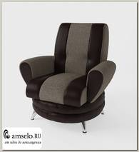 Кресло Torta (Рогожка Alba Beige (AT)/Экокожа Marvel Chocolate (AT))