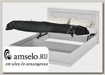 """Кровать 1600 с подъёмн.мех-м """"Argento""""(МДФ)(Белый глянец с рис.)"""