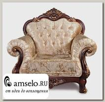 "Кресло Classico ""Мона Лиза"" (Бархат/Жаккард/Патина Позолота/Орех)"
