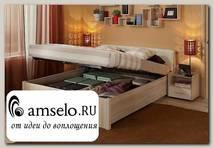 """Кровать 1800 с подъёмн.мех-м """"Мюнхен"""" (Дуб сонома/Винилкожа белая)Gl/BRL31"""