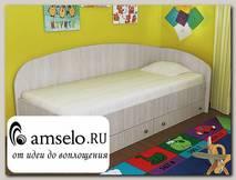 """Кровать с ящиками simple """"Кьюза"""" (Дуб) VITA/СФ2"""