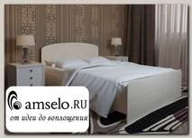 """Кровать 1200 adel """"Лаворо"""" (Белёный дуб)"""