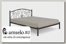 """Кровать 1600 butterfly """"Ларго""""(Металл Черная шагрень)-MS/Бт"""