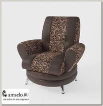 Кресло Torta (Велюр Cameo Mocca (AT)/Экокожа Marvel Cocoa (AT))