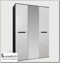"Шкаф 3-х дв. 1,5 ""Алисия"" (МДФ) (Венге/Белый глянец)"