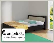 """Кровать 1200 """"Оливия"""" (Венге/Сосна астрид) D/Vn"""