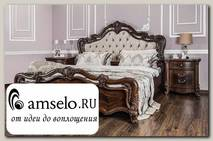 """Кровать 1800 """"Медичи"""" (МДФ) (Орех караваджо/Бархат/Патина/Лак) UgIl"""
