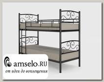 """Кровать двухъярусная 800 double """"Ларго""""(Металл Черная шагрень)-MS/Тр3"""