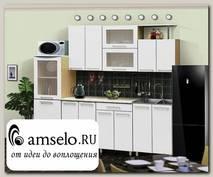 """Кухня 2,3 №14 """"Дольчетто"""" (МДФ глянец) (Дуб/Белый глянец)"""
