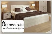 """Кровать 1400 """"Бергамо"""" (МДФ) (Ясень тёмный/Сандал)"""