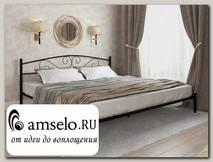 """Кровать 2000 rumba """"Ларго""""(Металл Черная шагрень)-MS/Рм"""