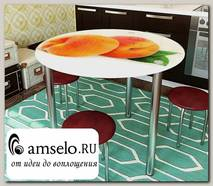 "Стол с фотопечатью D_0,9 (delicious 15) round ""Амели"""