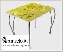 "Стол 0,9 ""Дольчетто"" (Металл/МДФ высокоглянц.) (Albico Лимоны)"