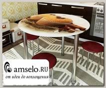 "Стол с фотопечатью D_0,9 (coffee 3) round ""Амели"""