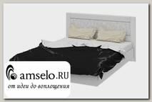 """Кровать 1600 """"Argento""""(МДФ)(Белый глянец с рис.)"""