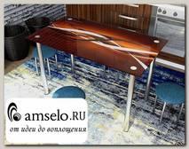 """Стол с фотопечатью 1,2 (_abstraction 6) """"Амели"""""""