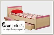 """Кровать 800 с ящ. """"Микки"""" (Дуб Линдберг/Розовый)"""