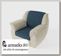 Кресло Дакота (Рогожка Baltic Azure (AT)/Экокожа Teos Canvas (AT))