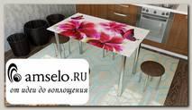 """Стол с фотопечатью 1,2 (flowers 5) """"Амели"""""""